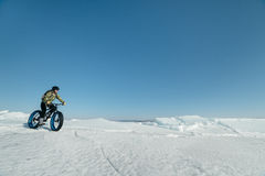 Fatbike (fat bike or fat-tire bike) royalty free stock photography