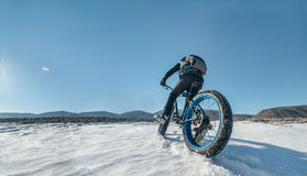 Fatbike. Fat tire bike. Stock Images