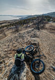 Fatbike. Fat tire bike. Royalty Free Stock Image