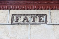 Fate street. Jerez de la Frontera - old town in Andalusia region of Spain. Street name sign - Fate Stock Images