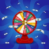 Fate wheel, 3D roulette  illustration. Stock Image
