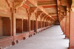 Fatehpur Sikri. Is the historical city was constructed by Mughal emperor Akbar Stock Image