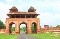Ογκώδες οχυρό και το σύνθετο Ουτάρ Πραντές Ινδία Fatehpur Sikri Στοκ Εικόνα