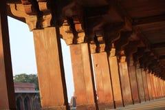 Fatehpur Sikri, colonnade detail Stock Photo