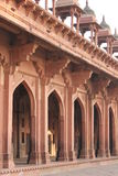 Fatehpur Sikri, Columns and corridor details Stock Photo