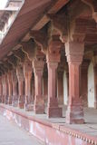 Fatehpur Sikri, Columns and corridor details Stock Image