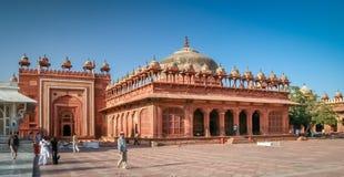 Fatehpur Sikri courtyard. Jama Masjid mosque located in Fatehpur Sikri near Agra, India Stock Image