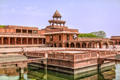 Fatehpur Sikri. Courtyard of a palace, Panch Mahal, Fatehpur Sikri, Agra, Uttar Pradesh, India Stock Photo