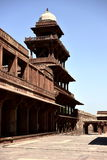 Fatehpur Sikri deserted city in India. Kitchen, stables, swimming pool, turkish pavilion and private emperor`s pavilion and imperial harem beautiful quiet quiet Stock Photo