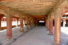 Fatehpur Sikri deserted city in India. Kitchen, stables, swimming pool, turkish pavilion and private emperor`s pavilion and imperial harem beautiful quiet quiet Stock Image