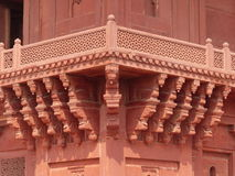 Fatehpur Sikri: the Diwan-i-Khas. The Hall of Private Audience in the abandoned capital city of Mughal emperor Akbar Royalty Free Stock Image