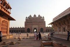 Fatehpur Sikri, door mensen Royalty-vrije Stock Fotografie