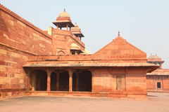 Fatehpur Sikri Fort. This fort is in Fatehpur Sikri, Agra and it was residence of Great Mughal Emperor Akbar. It was built arourd 1569 to 1585. This fort is Royalty Free Stock Images
