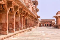 Fatehpur Sikri fort. Courtyard of a palace, Panch Mahal, Fatehpur Sikri, Agra, Uttar Pradesh, India Stock Photography