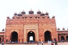 Fatehpur sikri fort india. Majestic red fort and complex containing beautiful monuments and old ruins Royalty Free Stock Photo