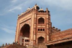 Fatehpur Sikri Gate. The main entrance to Fatehpur Sikri, a temple city near Agra, India Royalty Free Stock Photos