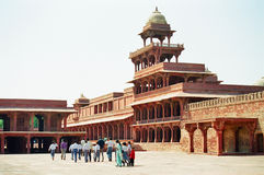 Fatehpur Sikri, India. Panch Mahal, the pleasure palace in ancient Fatehpur Sikri near Agra, India stock photo