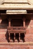 A beauitifully designed balcony in Fatehpur Sikri. Fatehpur Sikri, India, built by the great Mughal emperor, Akbar royalty free stock images