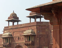 Fatehpur Sikri: Jodha Bai's Palace. The harem in the royal palace of the abandoned capital city of Mughal emperor Akbar Royalty Free Stock Images
