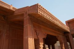 Fatehpur Sikri Lavish Carvings Photo libre de droits