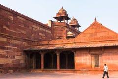 Fatehpur Sikri, miasto w Agra okręgu Uttar Pradesh, Wewnątrz Fotografia Royalty Free