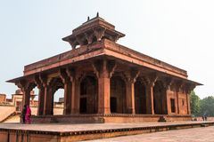 Fatehpur Sikri, miasto w Agra okręgu Uttar Pradesh, Wewnątrz Obraz Stock