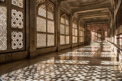 Fatehpur Sikri Mosque stone lace shadows Royalty Free Stock Photography