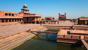 Fatehpur Sikri Panorama. View of UNESCO World Heritage site Fatehpur Sikri, India Royalty Free Stock Images
