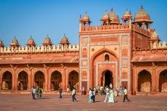 Fatehpur Sikri portar Royaltyfri Fotografi