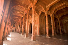 Fatehpur Sikri Red column corridor, India Stock Images