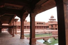Fatehpur Sikri, ancient town in Agra, India. Fatehpur Sikri is a town in the Agra District of Uttar Pradesh, India.The name of the city derives from the village royalty free stock photo