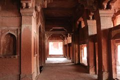 Fatehpur Sikri, ancient town in Agra, India. Fatehpur Sikri, UNESCO World Heritage Site, is a city and a municipal board in Agra district in the state of Uttar royalty free stock photos