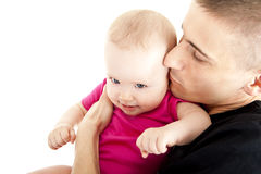 Fathe and baby Stock Photos