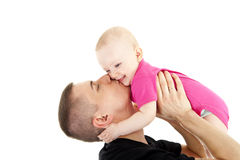 Fathe and baby Royalty Free Stock Photography