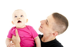 Fathe and baby Stock Photo