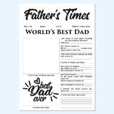 Father's cronometra - o presente do dia de pai, memórias, presente rápido, fácil, maravilhoso, tocante ilustração do vetor