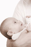 Father. Holds on hands of the baby Stock Photography