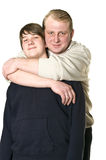 Father and adolescent son Stock Photo