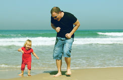 Father and adorable daughter Stock Images