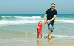 Father and adorable daughter Royalty Free Stock Images