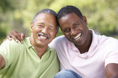 Father With Adult Son In Park Royalty Free Stock Photography
