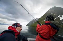 Free Father And Son Fishing Stock Photography - 10042262