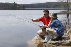 Free Father And Son Fishing Royalty Free Stock Photos - 2488928