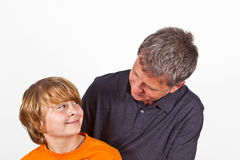 Father And Son Hugging Stock Photos