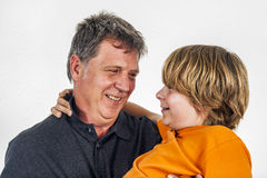 Father And Son Hugging Royalty Free Stock Image