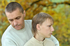 Father And Son In The Park Royalty Free Stock Photo