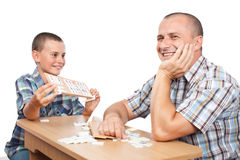 Free Father And Son Playing Rummy Royalty Free Stock Images - 20637489