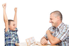 Free Father And Son Playing Rummy Stock Photo - 20637500