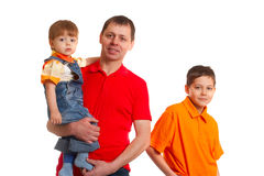 Father anf his sons Stock Image