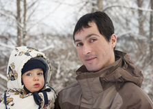 Father with baby Royalty Free Stock Photography